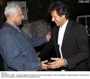 Imran Khan and AQ Khan. Liberalism!!!