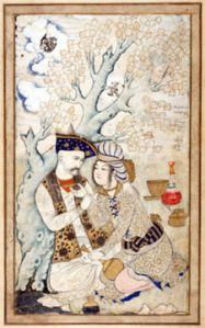 Shah Abbas and Wine Boy. Louvre
